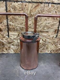 1 Gallon Copper Pot Still 3 Piece Set Up