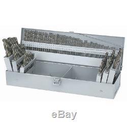 115 Piece Cobalt Drill Bit Set 135 deg pc SPLIT POINT TIPS HIGH SPEED 1/16 1/2