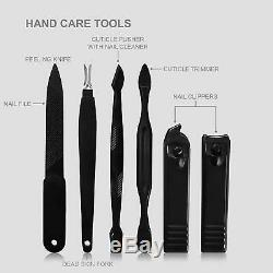 15 Piece Manicure Pedicure Nail Care Set Cutter Cuticle Clippers Kit /Gift Case