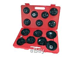 16 Piece Cup Type Oil Filter Wrench Tool Set Car Van Garage Professional
