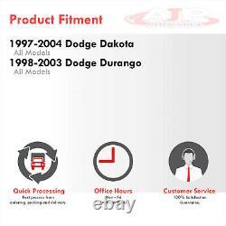 1PC Smoked Lens Headlights + Bumper Signal Lamps For 1997-2004 Dakota / Durango