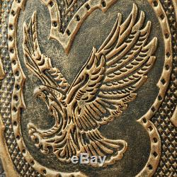 21 Golden Eagle Russian Luxury Backgammon Set Leather Pieces Tournament Board