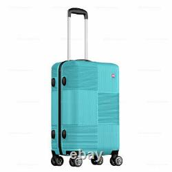 3-Piece Hardside Luggage Set with Spinner Wheels Lightweight 20'' 24'' 28'