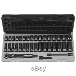 35 Piece 3/8 Drive Metric 6 Point Duo-Socket Set Grey Pneumatic GRE81635MRD