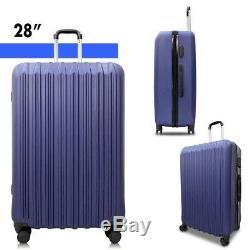 4 Piece ABS Luggage Set Light Travel Case Hardshell Suitcase 16202428