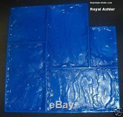 4 Piece Set Royal Ashler Slate Decorative Concrete Cement Overlay Stamps mat New