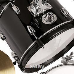 5 Piece Complete Junior Drum Set Cymbals Child Kids Kit with Stool & Sticks