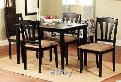 5 Piece Dining Set Wood Breakfast Furniture 4 Chairs and Table Kitchen Dinette