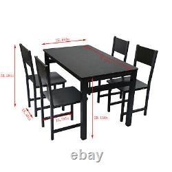 5 Piece Dining Table Set+ 4 Chairs Kitchen Room Breakfast Desk Furniture Dinette