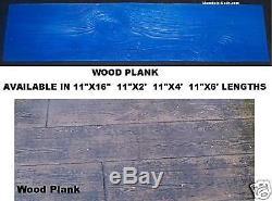 5 Piece Wood Plank Set Decorative Concrete Cement Stamps Mats New Woodgrain