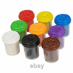 53 Piece Clay Craft Dough Gift Set Tubs & ABC Number Shapes Childrens Toys Hobby