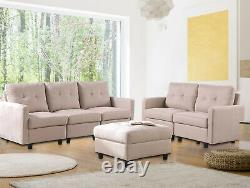 7-Piece Modular Sectional Sofa Modern Living Room Furniture Set Casual DIY Couch