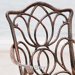 (7-Piece) Outdoor Patio Furniture Antique Copper Cast Aluminum Dining Set