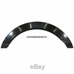 75mm Wide Universal Fender Flares Wheel Arch Extension Arches Trims JDM Set RUN
