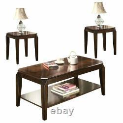 ACME Docila 3 Piece Coffee Table Set in Walnut