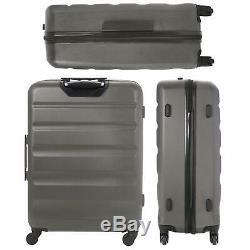 Aerolite Lightweight Luggage Set ABS Hard Shell 4 Wheel Spinner Suitcase 3-Piece