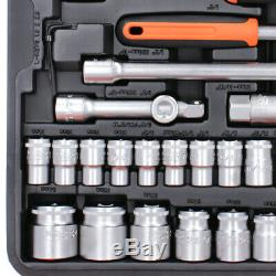 BAHCO S106 1/4 & 1/2 106 Piece Socket, Ratchet & Combination Spanner Set + Case