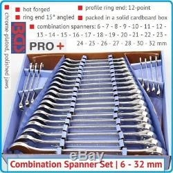 BGS Germany 25-pieces Quality Combo Open & Ring Ended Spanner Set Metric 6-32mm