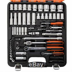 Bahco S103 103 Piece 1/4 & 1/2 Drive Socket, Spanner Set / Kit