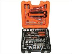 Bahco S138 138 Piece Socket Set Metric Imperial 1/4 3/8 1/2 Inch Drive BAHS138