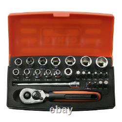 Bahco SL25 Socket Set 25 Piece 1/4 Drive With Ratchet & Case (Bacho Barco)