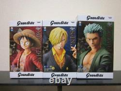 Banpresto One Piece Grandista figure Luffy & Sanji & Zoro 3 set Japan F/S NEW