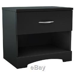 Black 4-Piece Storage Platform Bed Collection Set Home Living Bedroom Furniture