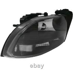 Black Housing Clear Lens Reflector Headlights Set For 98-03 Durango 97-04 Dakota