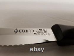 Brand New Set 4 piece Cutco Steak/Table Knife #1759 Double D edge Black Handle