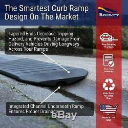 Bridjit Driveway Curb Ramp, 3-Piece Expandable Curb Ramp Set for 12ft Driveway