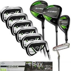 Callaway EDGE 10-Piece Men's Golf Clubs Set 10.5 Regular Right or Left Handed