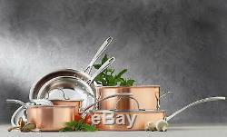 Calphalon Tri-Ply Copper 10-Piece Cookware Set, T10