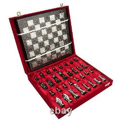 Collectible Full Brass Chess Game Board Set with 100% Brass Pieces/ Coins- 10