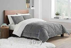 Comforter Ugg Set Reversible 3 Piece King Sherpa New Avery Bedding Home