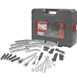 Craftsman 230-Piece Silver Finish Standard Metric Mechanics Tool Set 70190 NEW