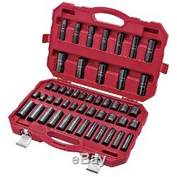 Craftsman 48 Pc Laser Impact Deep Socket Accessory Set 1/2 Inch Metric 48 Piece