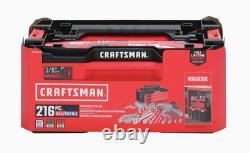 Craftsman Versastack 3 Drawer 216 Piece Assortment Mechanic Tool Set Chrome