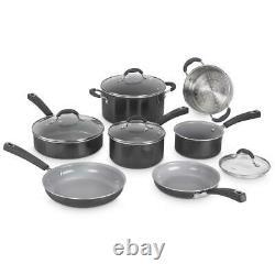 Cuisinart Ceramica XT Nonstick 11 Piece Cookware Set Black
