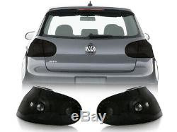 DEPO Euro BLACK/SMOKE 4PCS Tail Light For 06-09 VW Golf 5 GTi R32 Rabbit Mk5 V