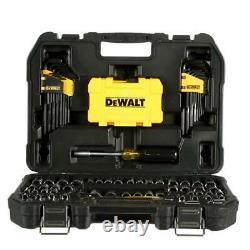 DEWALT Driver Bits Ratchet Socket Hex Keys Mechanics Tool Set Chrome 108 Piece