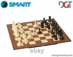 DGT SMART Board WI + Plastic weighted chess pieces Electronic CHESS set WI