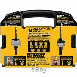 DeWalt D180005 14-Piece C-Clamp Design Master Hole Saw Door Lock Kit