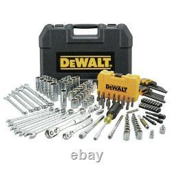 DeWalt DWMT73802 142-Piece 1/4 in. And 3/8 in. Mechanic's Tool Set New