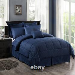 Deal 10 Piece Comforter Set Complete Bed in a Bag Comforter Bedding Set Cal King