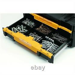 Dewalt DWST1-70706 TStak IV Tool Storage Box 2 Drawers + 100 Piece Accessory Set