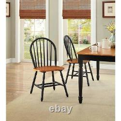 Dining Room Table Set Farmhouse Country Wood Kitchen Tables And Chairs 7 Piece