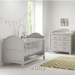 East Coast Nursery Furniture Cot Bed/Dresser Toulouse 2 Piece Room Set In Grey
