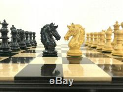 Ebony Wood Staunton Collector Chess Pieces Set King 4.5 4 Queens Luxury Chess