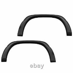 Fender Flare Kit Rugged Style Smooth Black Set of 4 for Chevy GMC Truck New