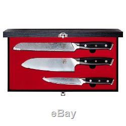 FollCorp The Santoku 3 Piece Knife Set Damascus Steel New To eBay Price